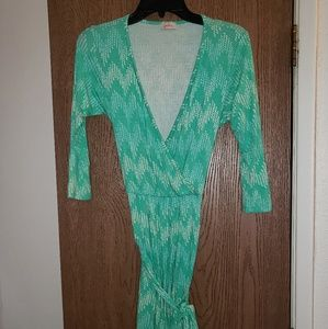Teal crossover dress